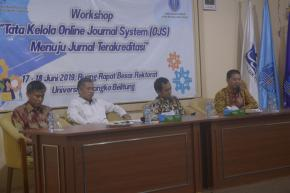 JURNAL HUKUM PROGRESIF UBB GELAR WORKSHOP JURNAL TERAKREDITASI